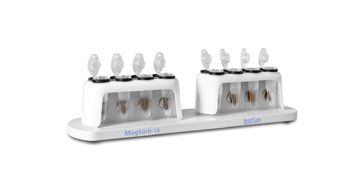 MagSorb – 16, Magnetic Rack for Manual Nucleic Acid Extraction