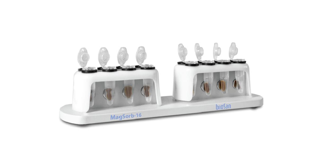 MagSorb – 16, Rack magnético para extracción manual de ácido nucleico