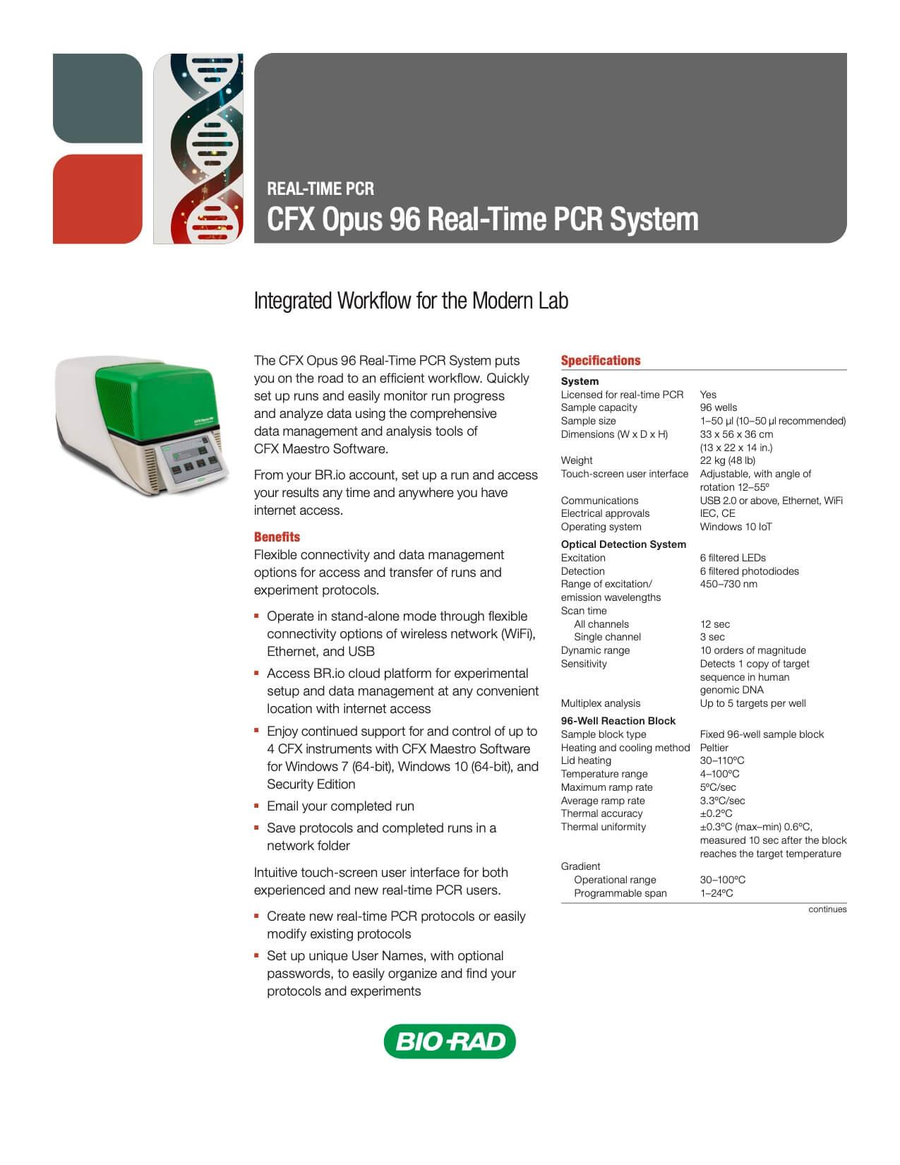 CFX Opus 96 – Real Time PCR