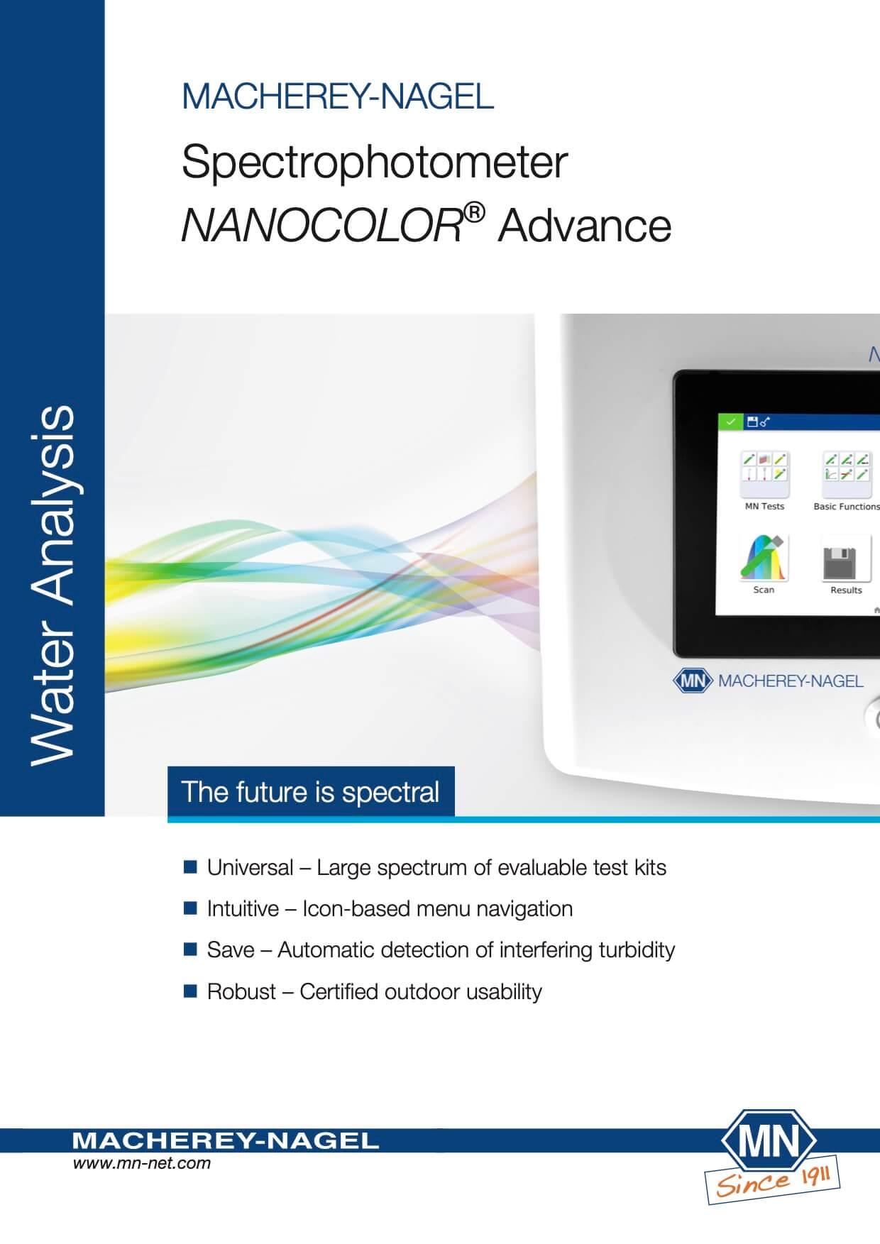 Spectrophotometer NANOCOLOR® Advance