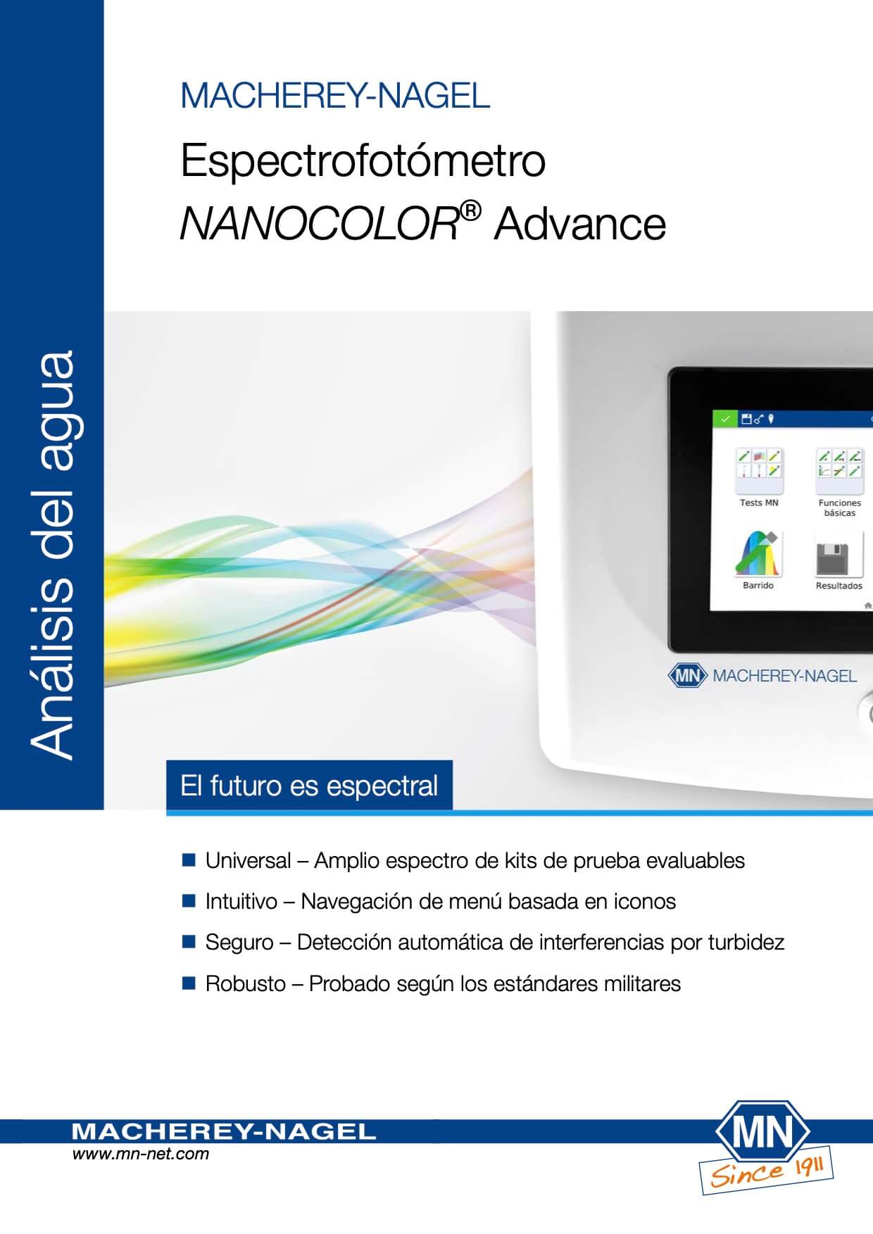 Espectrofotómetro NANOCOLOR® Advance