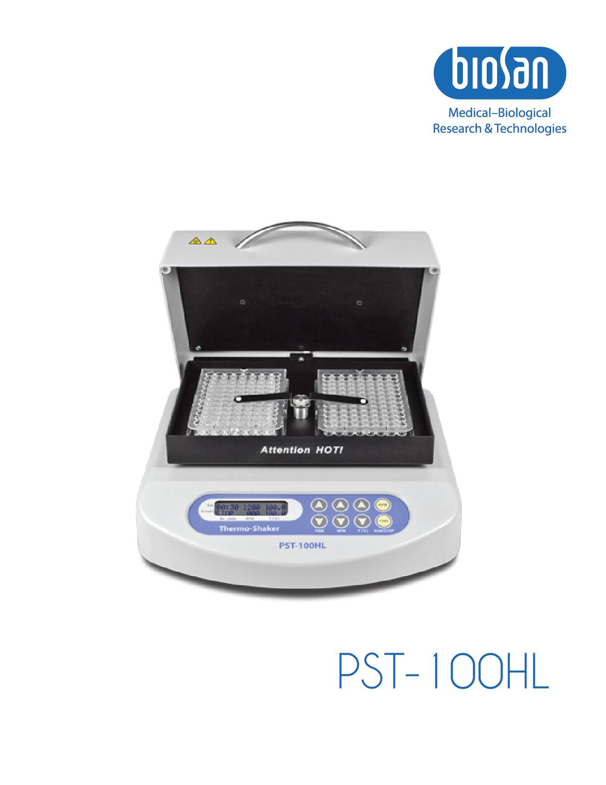 PST-100HL, Plate Shaker Thermostat