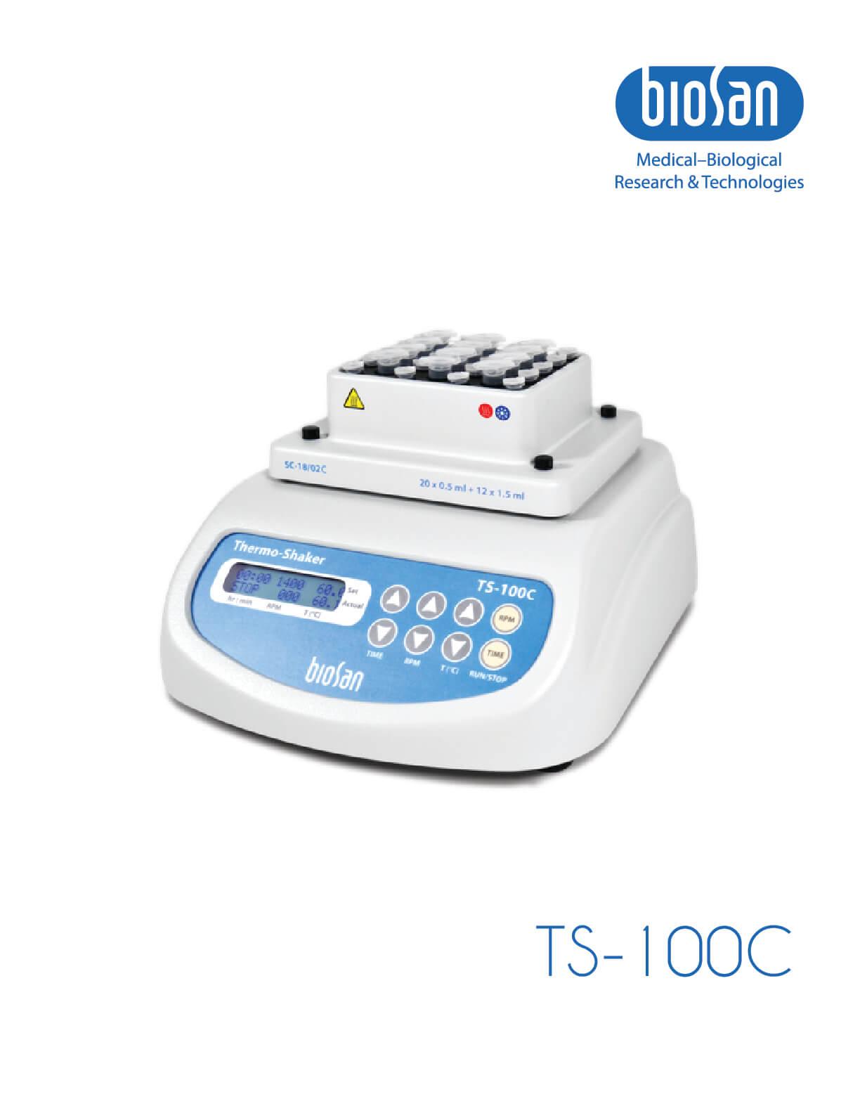 TS-100C, Agitador térmico con refrigeración para microtubos y placas PCR