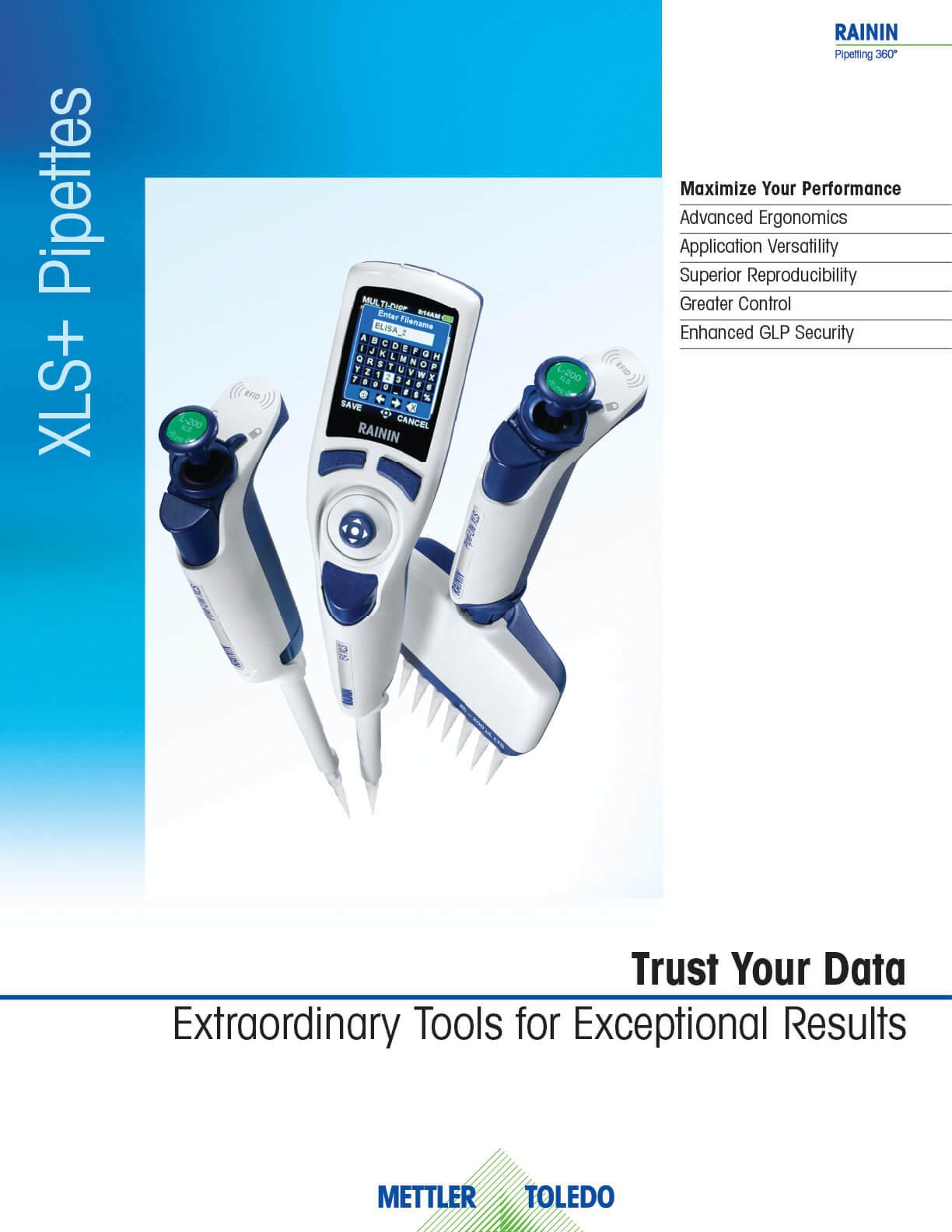 XLS+ Pipettes